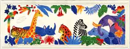 jungle beat - Animal Painting For Kids